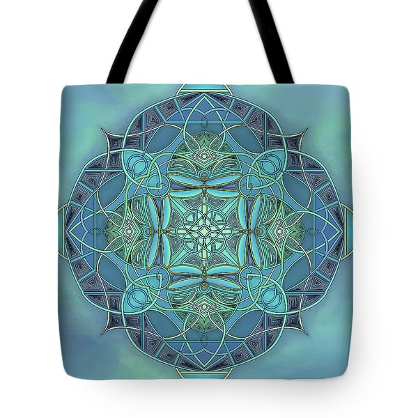 Symmetrical #12 Tote Bag by Marion Sipe