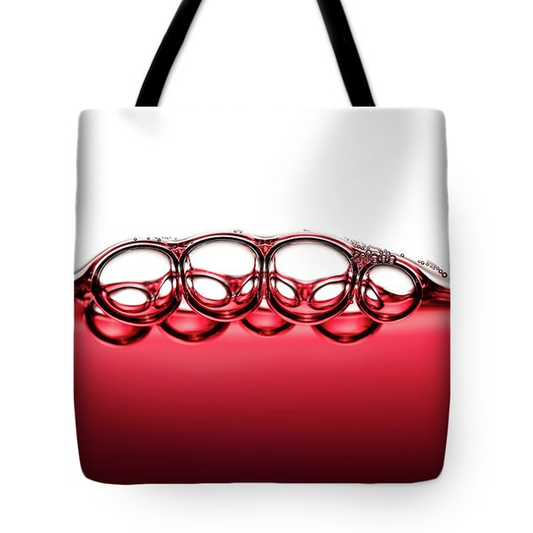 Symmetrical Red Wine Bubbles Tote Bag
