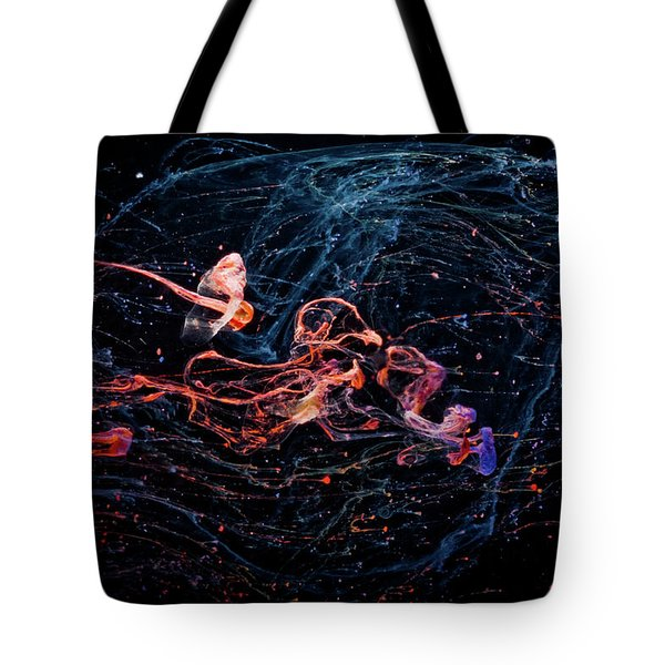 Symphony - Abstract Photography - Paint Pouring Tote Bag
