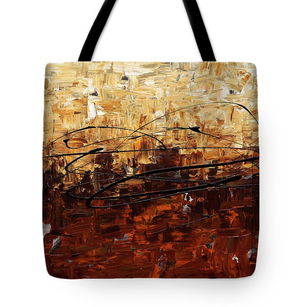 Tote Bag featuring the painting Symphony by Carmen Guedez