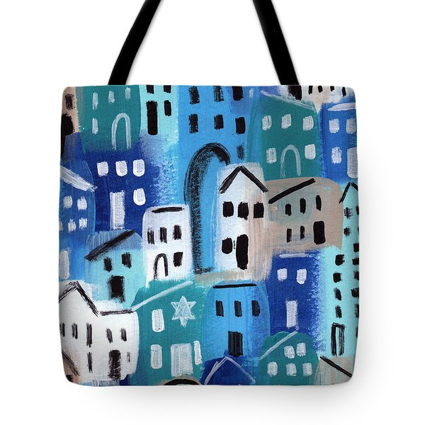 Synagogue- City Stories Tote Bag by Linda Woods