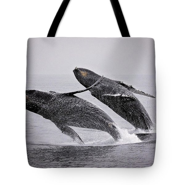 Synchronized Double Breach Tote Bag