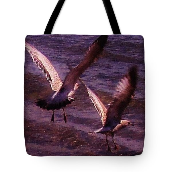 Synchronized Landing Tote Bag