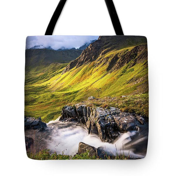 Tote Bag featuring the photograph Synclavier Foothills by Tim Newton