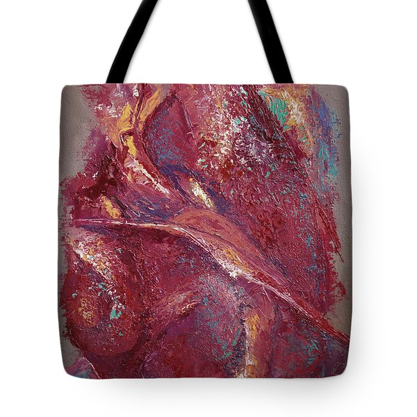 Tote Bag featuring the painting Syncopation 4 by Mini Arora