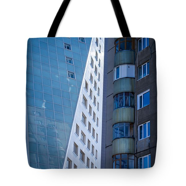 Tote Bag featuring the photograph Synergy Between Old And New Apartments by John Williams