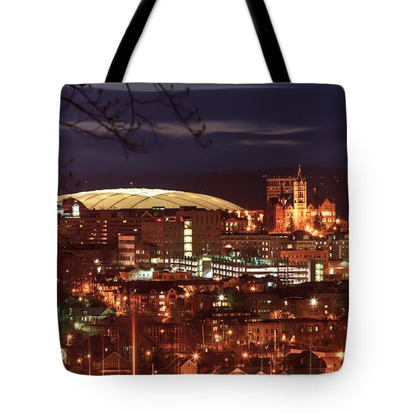 Syracuse Dome At Night Tote Bag by Everet Regal