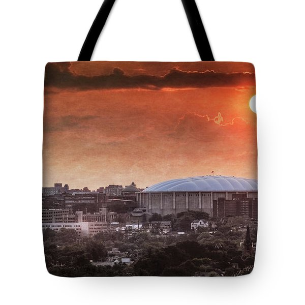 Syracuse Sunrise Over The Dome Tote Bag