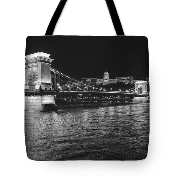 Szechenyi Chain Bridge Budapest Tote Bag