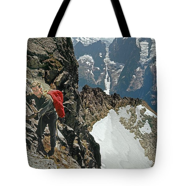 T-04403 Walt Buck Sellers On First Ascent Of Mt. Torment Tote Bag
