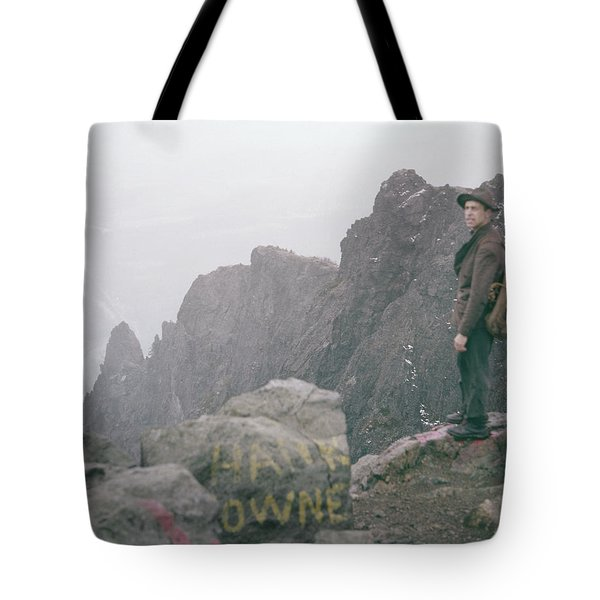 T-04701 Fred Beckey On Mt. Si 1958  Tote Bag