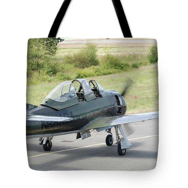 T-28 Taxiing Out Tote Bag