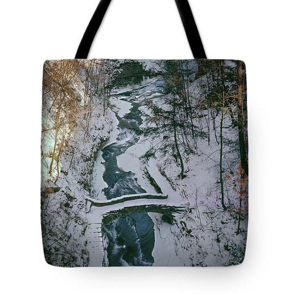 T-31501 Gorge On Cornell University Campus Tote Bag
