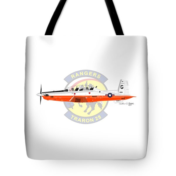 T-6b Texan II Vt28 Tote Bag by Arthur Eggers