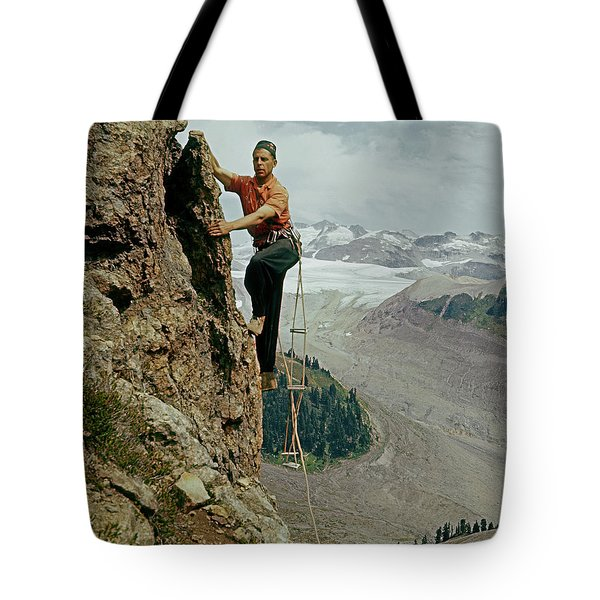T-902901 Fred Beckey Climbing Tote Bag
