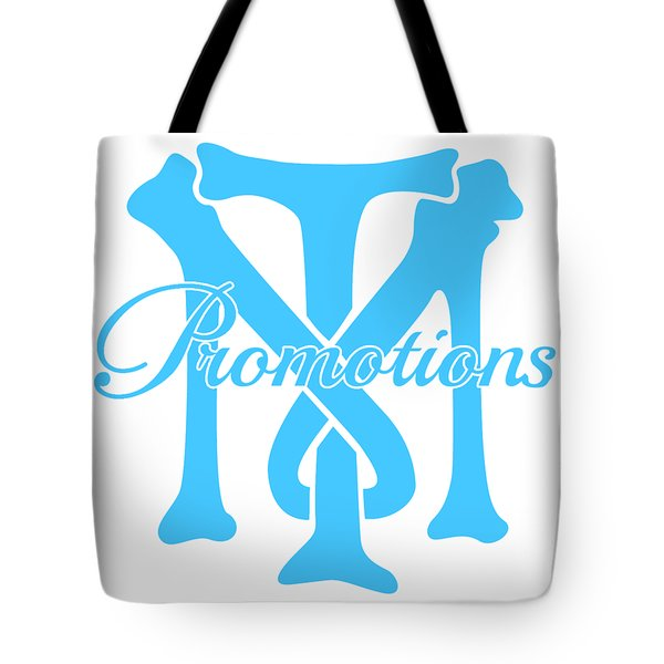 Tote Bag featuring the drawing T And M Promotions Logo by Nicholas Grunas