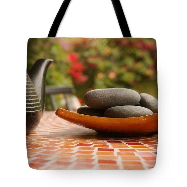 T-pot And Pebbles Tote Bag