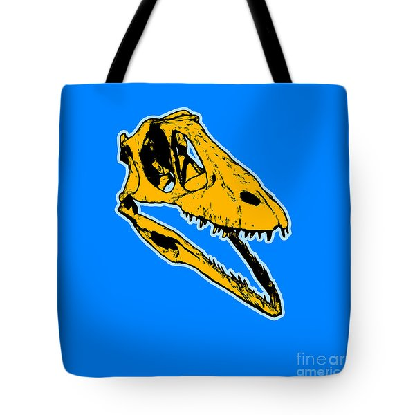 T-rex Graphic Tote Bag by Pixel  Chimp