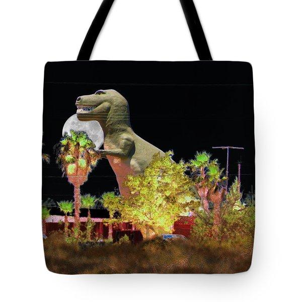 T-rex In The Desert Night Tote Bag