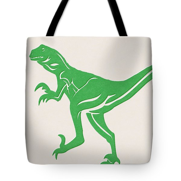 T-rex Tote Bag by Linda Woods