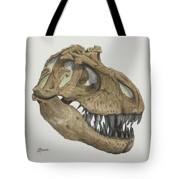 T. Rex Skull 2 Tote Bag