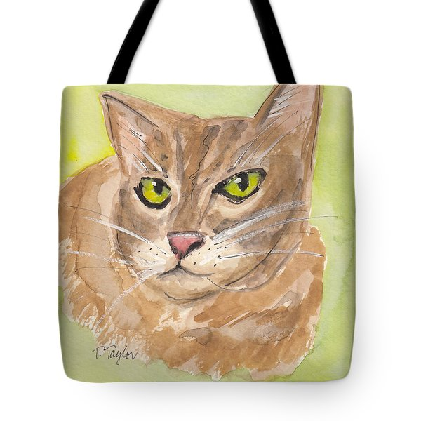 Tabby With Attitude Tote Bag