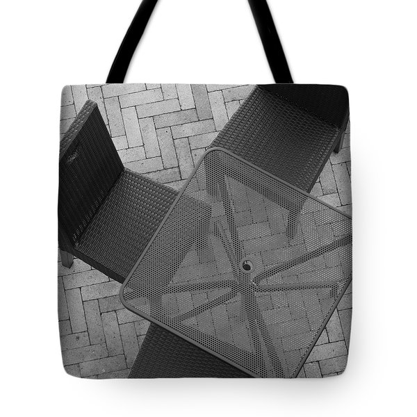 Table Chairs From Above Tote Bag by Rob Hans