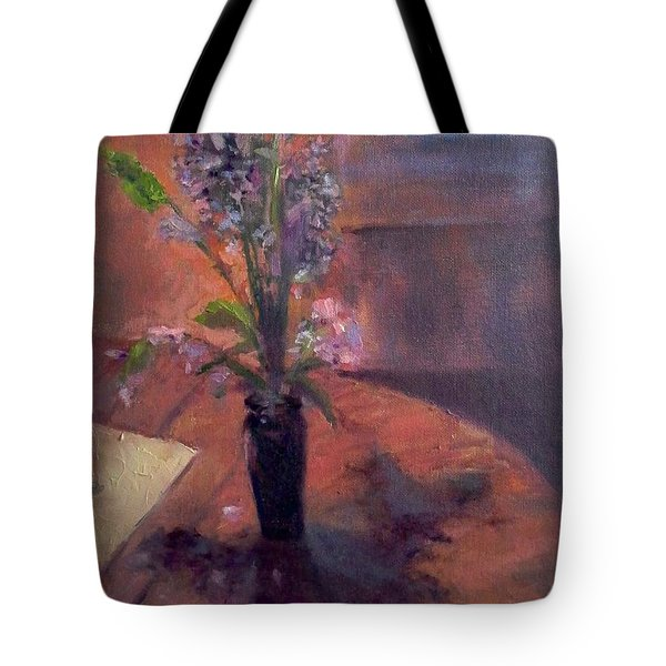 Table Flowers #1 Tote Bag by Brian Kardell