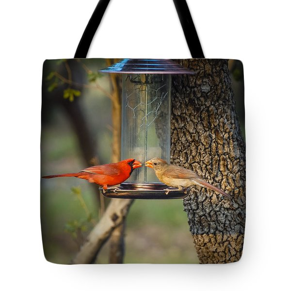 Tote Bag featuring the photograph Table For Two by Debbie Karnes
