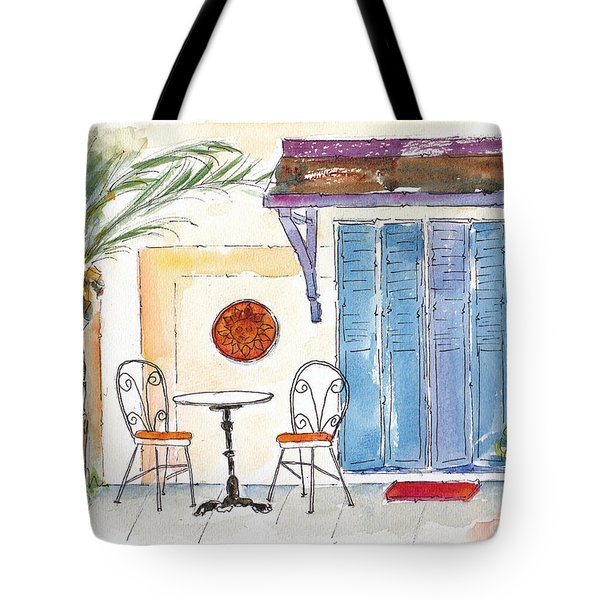 Table For Two Tote Bag