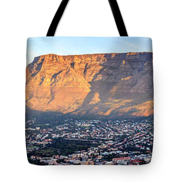Tote Bag featuring the photograph Table Mountain by Alexey Stiop