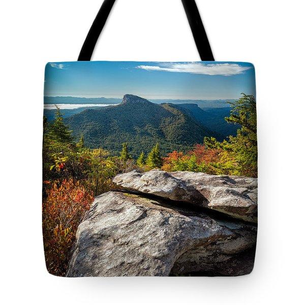 Table Rock Fall Morning Tote Bag