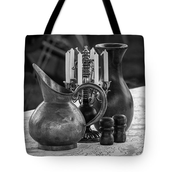 Table Setting Bw Tote Bag