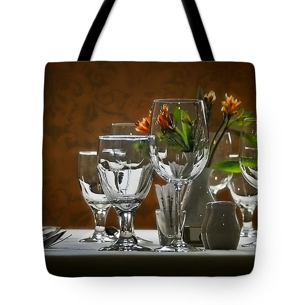 Tote Bag featuring the photograph Table Setting by Joe Bonita