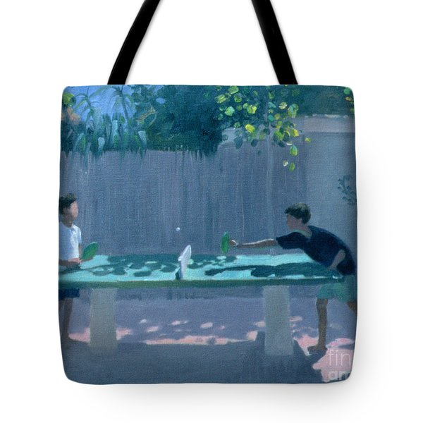 Table Tennis Tote Bag by Andrew Macara