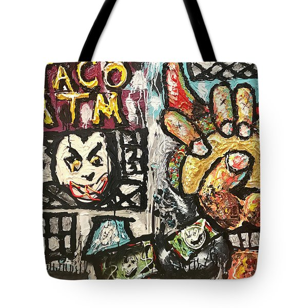 Tote Bag featuring the painting Taco Atm by Joe Bloch
