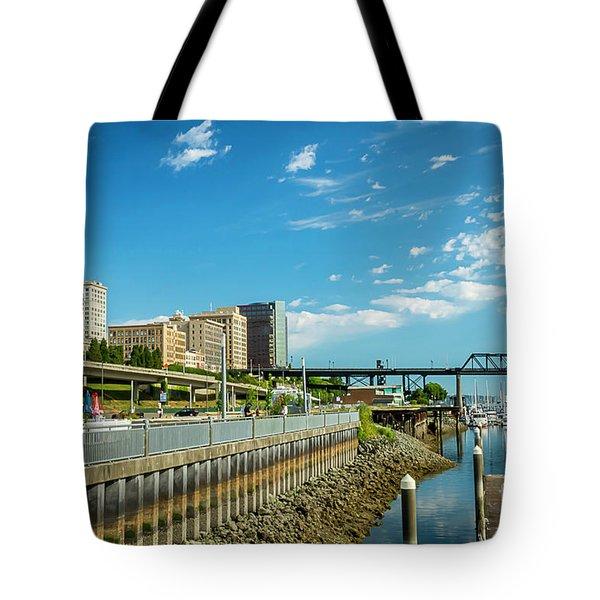 Tacoma And 11th Street Bridge Tote Bag