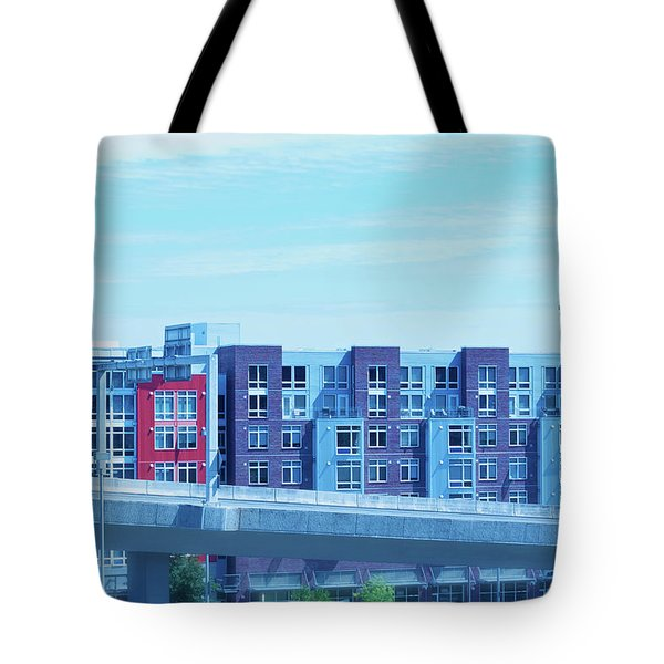 Tote Bag featuring the photograph Tacoma Blues - Cityscape Art Print by Jane Eleanor Nicholas