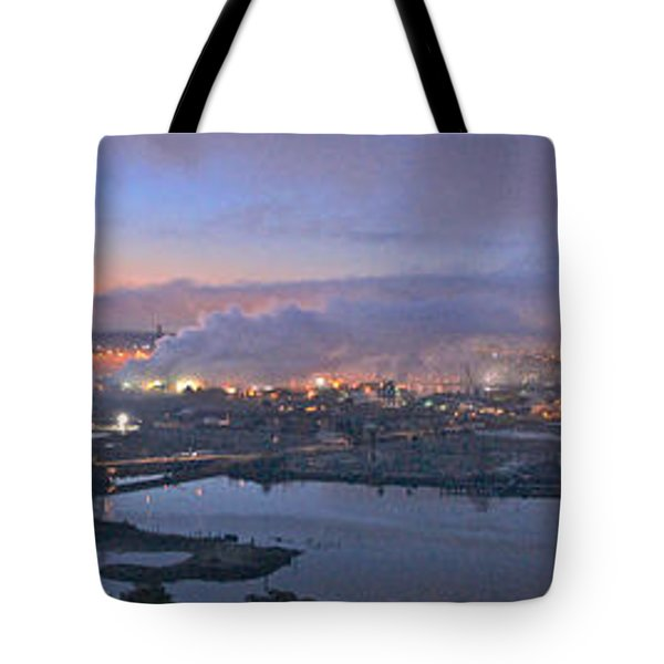 Tacoma Dawn Panorama Tote Bag