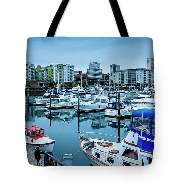 Tacoma Waterfront Marina,washington Tote Bag