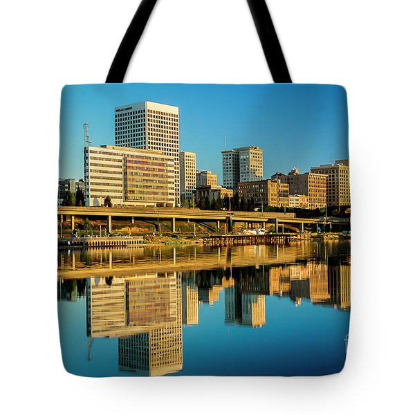 Tacoma's Waterfront,washington Tote Bag