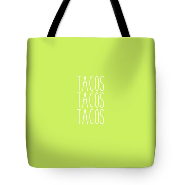 Tacos Tote Bag by Cortney Herron