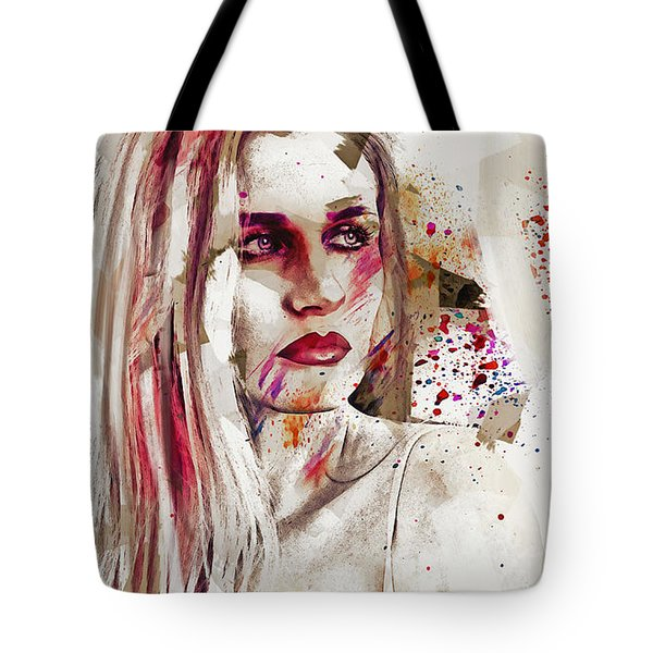 Tote Bag featuring the digital art Taction by Galen Valle
