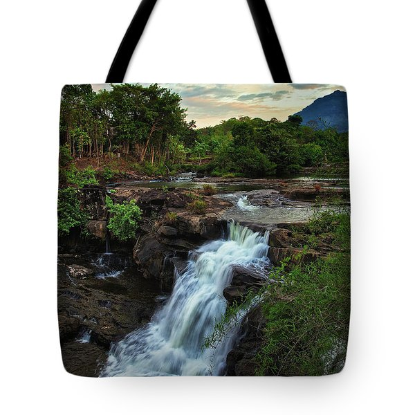 Tad Lo Waterfall, Bolaven Plateau, Champasak Province, Laos Tote Bag