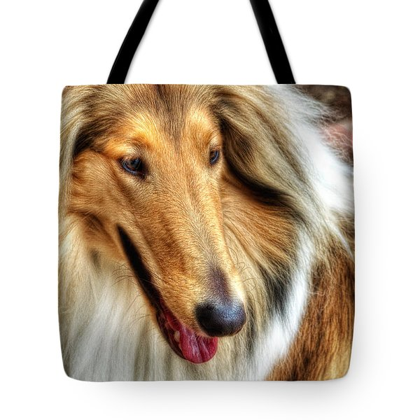 Taffy Collie Tote Bag