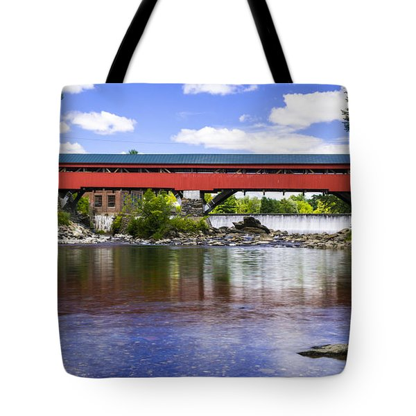 Taftsville Covered Bridge. Tote Bag