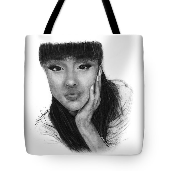Ariana Grande Drawing By Sofia Furniel Tote Bag
