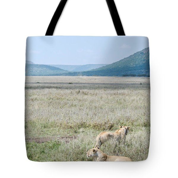 Tagged Lions Tote Bag
