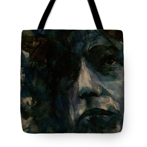 Tagged Up In Blue- Bob Dylan  Tote Bag