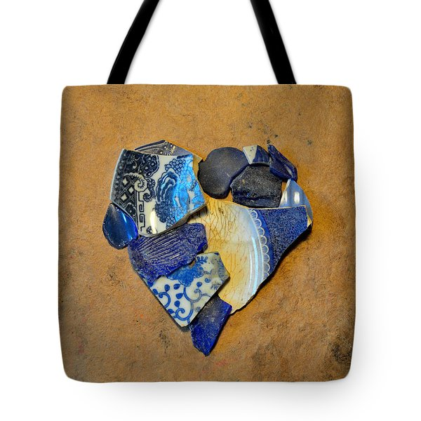 Mosaic Heart On Brown Paper 5 Tote Bag